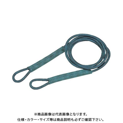 TRUSCO セフティパワーロープ シンブルなし 9mmX4m SP-94