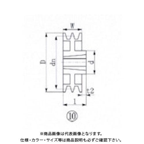 EVN ブッシングプーリー SPB 218mm 溝数2 SPB218-2