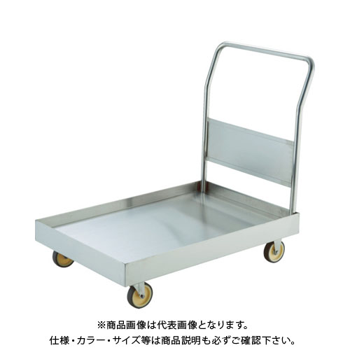 【直送品】TRUSCO オールSUS304 皿型台車 900X600 NU車輪 S付 SSAR-2NU-S
