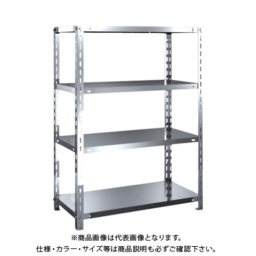 【運賃見積り】【直送品】 TRUSCO SUS304製軽量棚 875XD450XH1200 天地4段 SU3-4344