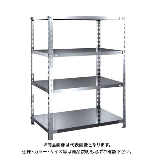 【運賃見積り】【直送品】 TRUSCO SUS304製軽量棚 875XD600XH1200 天地4段 SU3-4364