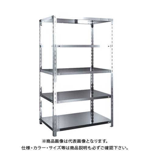 【直送品】 TRUSCO SUS304製軽量棚 875XD600XH1500 天地5段 SU3-5365