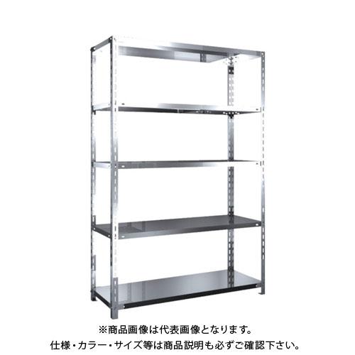 【運賃見積り】【直送品】 TRUSCO SUS304製軽量棚 1200XD450XH1800 天地5段 SU3-6445