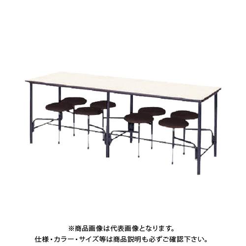 【運賃見積り】【直送品】 ニシキ 食堂テーブル 8人掛 ブラウン STM2175BR