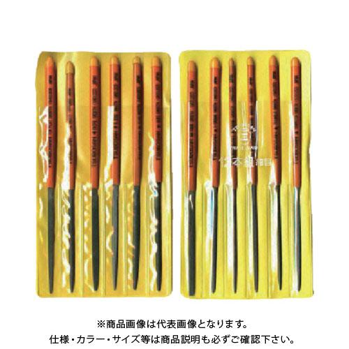 組ヤスリセット ST012-03 12本組 ツボサン 細目