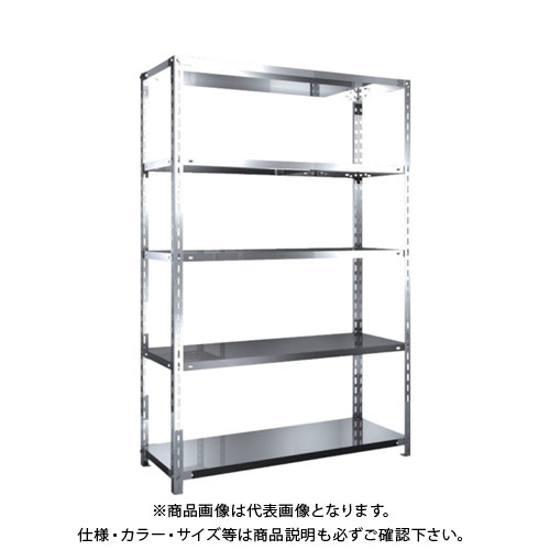 【運賃見積り】【直送品】 TRUSCO SUS430製軽量棚 1200XD450XH1800 天地5段 SU4-6445