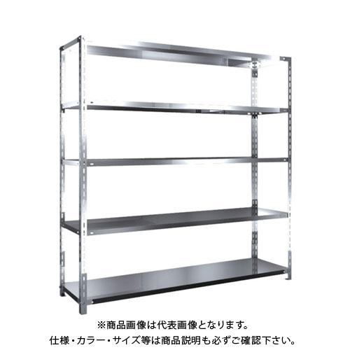 【運賃見積り】【直送品】 TRUSCO SUS430製軽量棚 1800XD450XH1800 天地5段 SU4-6645