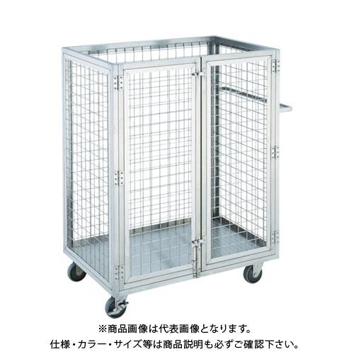 【直送品】TRUSCO ステンレス製網台車 1200X750XH1200 2ドア SUAD-2-1275