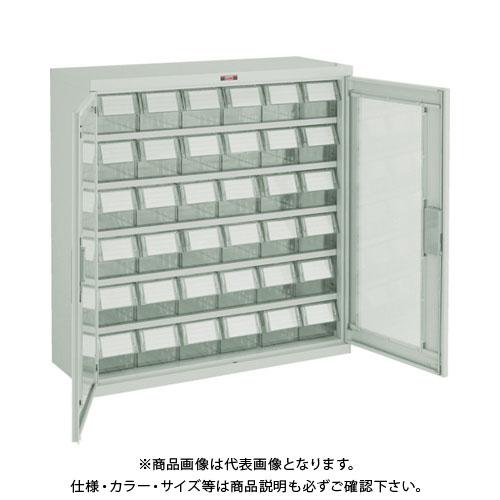 【個別送料1000円】【直送品】 TRUSCO バンラックケース M型 両開き扉 透明引出小X36個 透明 T305M-N36S:TM