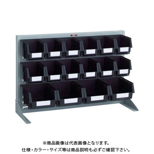 【個別送料1000円】【直送品】 TRUSCO 導電性パネルコンテナラック 卓上型 コンテナ中X12 大X4 銀 T-0634N-E:SV