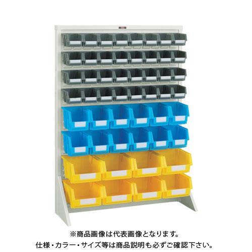 【個別送料1000円】【直送品】 TRUSCO パネルコンテナラック 床置型 小X32 中X12 大X8 ネオグレー T-12224N:NG