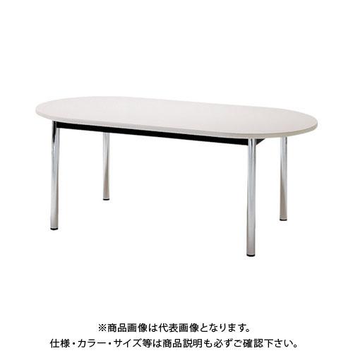 【運賃見積り】【直送品】 TOKIO ミーティングテーブル 楕円型 1800×900mm ホワイト TC-1890R-W