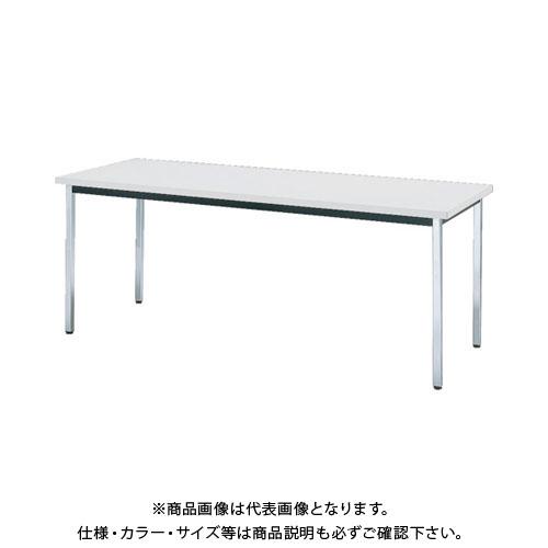 【直送品】 TRUSCO 会議用テーブル 1200X600XH700 角脚 下棚無 ホワイト TD-1260-W