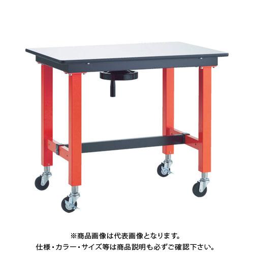 【直送品】TRUSCO ハンドル昇降式作業台 車輪付 900X600XH770~970 TFKSS-0960C75