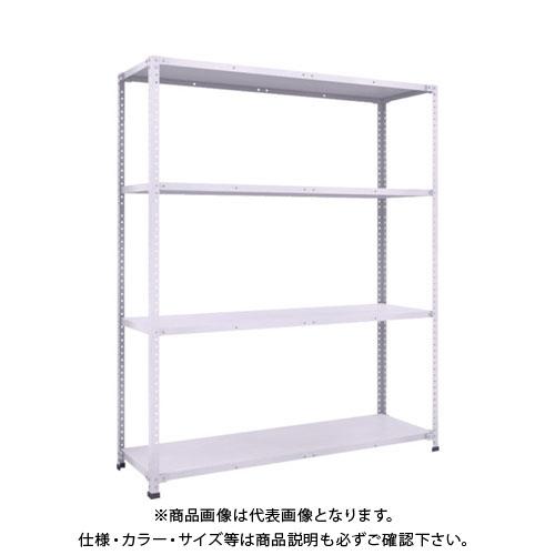【運賃見積り】【直送品】 TRUSCO 軽量150型ボルトレス棚 1500X450XH1800 4段 TLA65S-14