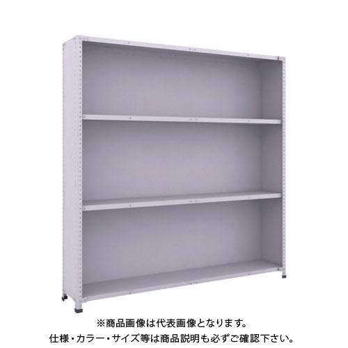 【運賃見積り】【直送品】 TRUSCO 軽量150型背側板付棚 1800X300XH1800 4段 TLA66K-24