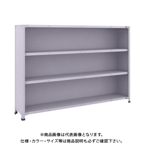 【運賃見積り】【直送品】 TRUSCO 軽量150型背側板付棚 1800X300XH1200 4段 TLA46K-24