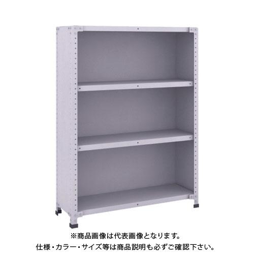 【運賃見積り】【直送品】 TRUSCO 軽量150型背側板付棚 900X300XH1200 4段 TLA43K-24