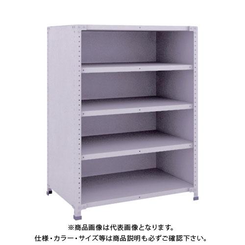 【運賃見積り】【直送品】 TRUSCO 軽量150型背側板付棚 900X600XH1200 5段 TLA43L-25