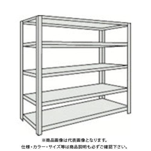 【運賃見積り】【直送品】 TRUSCO 軽量150型ボルトレス棚 1500X450XH1200 5段 TLA45S-15