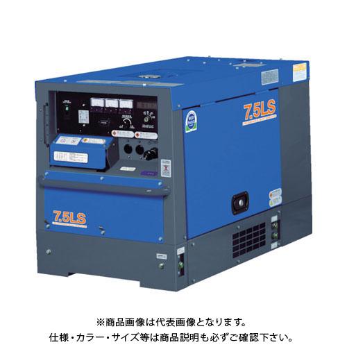 【直送品】デンヨー 防音型ディーゼルエンジン発電機 6.5/7.5kVA(50/60Hz) TLG-7.5LSK
