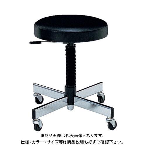 ノーリツ 作業用チェア ビニールレザー 黒 TL-6L:BK