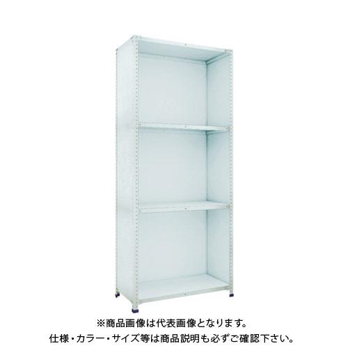 【直送品】 TRUSCO 軽量150型背側板付棚 W1800XD450XH2100 4段 TLA76S-24