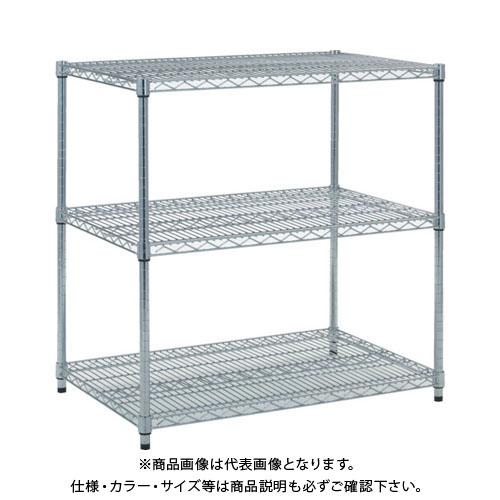 【個別送料1000円】【直送品】 TRUSCO スチール製メッシュラック W905XD609XH923 3段 TME-3363