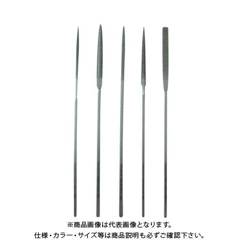 TRUSCO ダイヤモンドミニヤスリ 平・半丸・丸・三角・角 5本組セット 中目 TMIS3