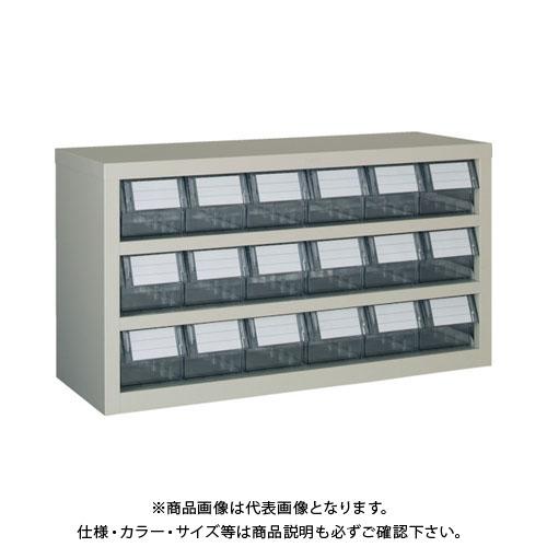【運賃見積り】【直送品】 TRUSCO 横型バンラックケースM型 854X307XH468 3段6列 TM-63B