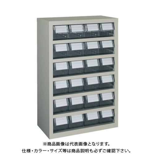 【個別送料1000円】【直送品】 TRUSCO 横型バンラックケースM型 592X307XH890 4列6段 TM-46B