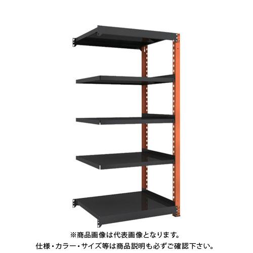 【運賃見積り】【直送品】 TRUSCO TM3型中量棚 900X721X1800 5段 連結 黒 TM3-6375B:BK