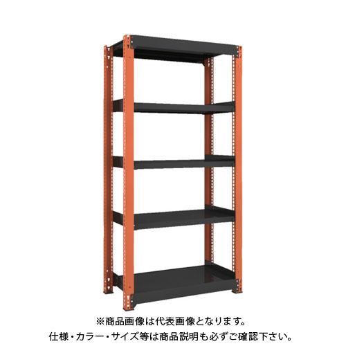【運賃見積り】【直送品】 TRUSCO TM3型中量棚 900X471X1800 5段 単体 黒 TM3-6355:BK