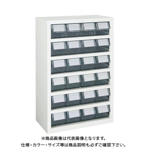 【個別送料1000円】【直送品】 TRUSCO 横型バンラックケースM型 592X307XH890 4列6段 W TM-46BN