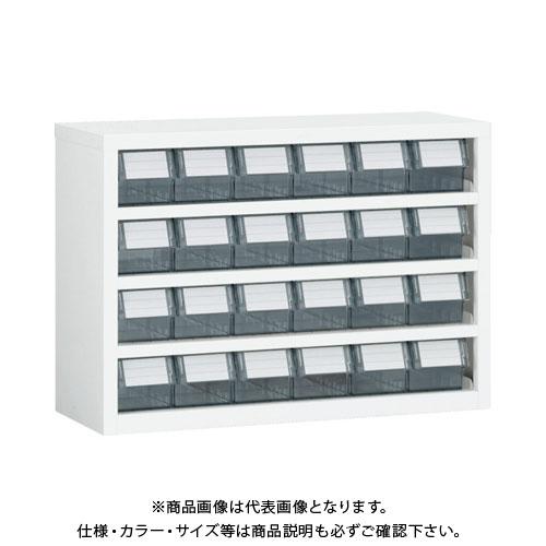 【個別送料1000円】【直送品】 TRUSCO 横型バンラックケースM型 854X307XH609 6列4段 W TM-64BN