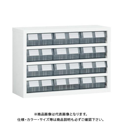 【個別送料1000円】【直送品】 TRUSCO 横型バンラックケースM型 854X307XH609 3列4段 W TM-64BWN