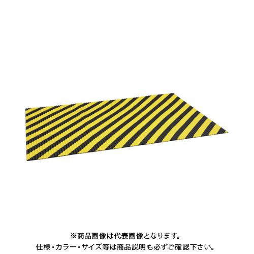 【運賃見積り】【直送品】TRUSCO ジャバラマット 1200X1800mm トラ柄 TNC-1218YB