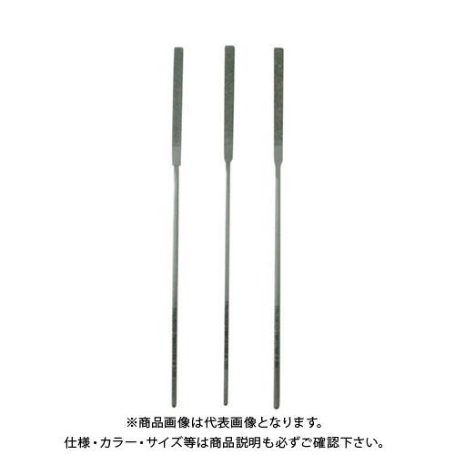 TRUSCO ダイヤモンドニードルヤスリ 平 3本組セット TNFS4