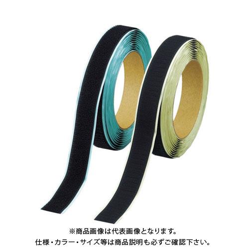 TRUSCO マジックテープ 弱粘着タイプ 100mmX5m 黒(1巻=1セット) TPD-1005MTS-BK