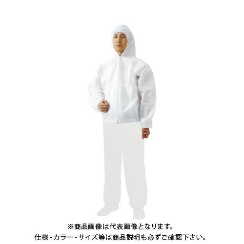 TRUSCO まとめ買い 不織布使い捨て保護服フード付ジャンバー M (60着) TPC-F-M-60
