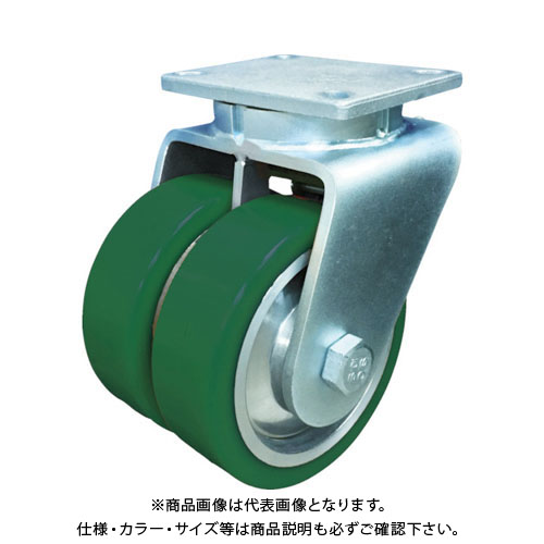 SAMSONG 超高荷重 デュアルキャスター 自在 耐熱ウレタン車 150mm TP7660-01-PAL-DUAL