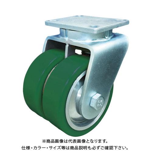 SAMSONG 超高荷重 デュアルキャスター 自在 耐熱ウレタン車 200mm TP7680-01-PAL-DUAL
