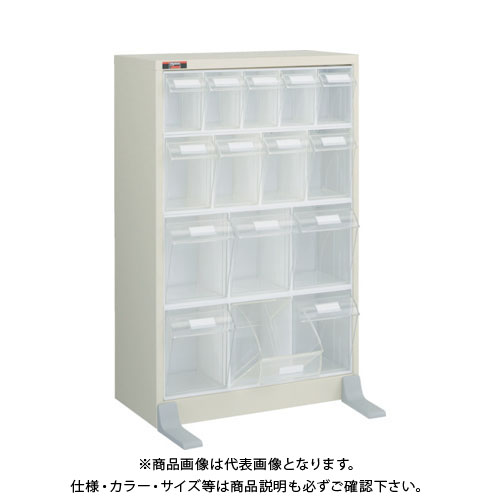 【運賃見積り】【直送品】 TRUSCO コンビケース 484X230XH754 ポケットX15 TPKL-5432