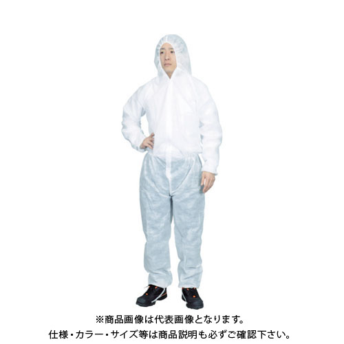 【運賃見積り】【直送品】TRUSCO まとめ買い 保護服(1層タイプ) XLサイズ (50着入) TPSB-XL