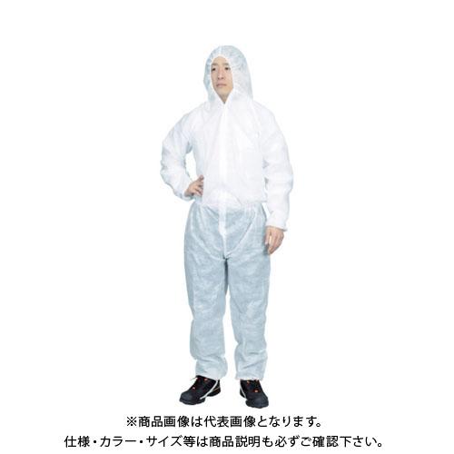 【運賃見積り】【直送品】TRUSCO まとめ買い 保護服(1層タイプ) Lサイズ (50着入) TPSB-L