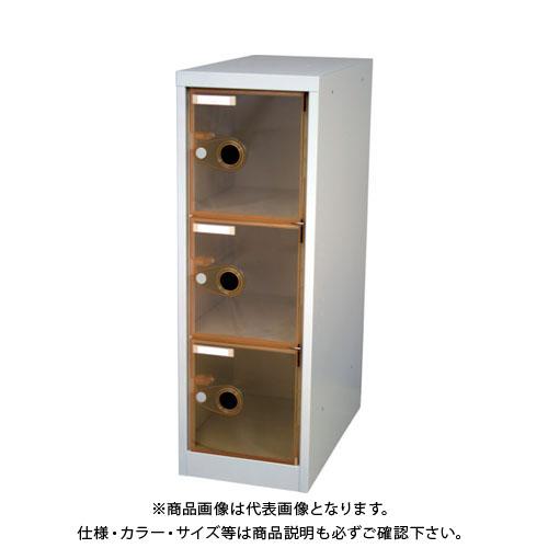 【個別送料1000円】【直送品】 TRUSCO スケルトンロッカー 1列X3段 オレンジ TSL3-OR