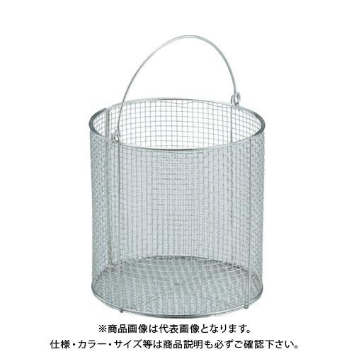 TRUSCO ステンレス洗浄カゴ 丸型 有効内寸390X390X295 TSM-4030N
