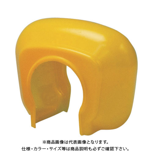 TRUSCO 単管クランプカバー イエロー (100個入) TTCK-Y