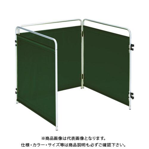 【運賃見積り】【直送品】TRUSCO 小型溶接遮光フェンス 900mm角 三面セット ダークグリーン TTY3-900-DG