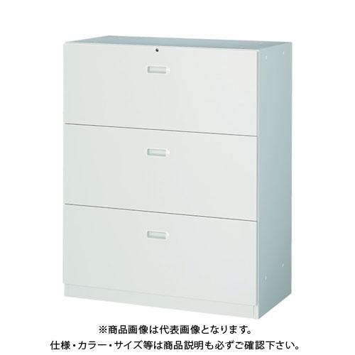 【個別送料2000円】【直送品】 TRUSCO U型壁面書庫 ラテラル3段 H1110 アジャスター付 ホワイト UAW-11B